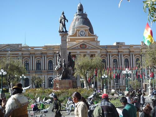 Plaza Murillo y Palacio de Gobierno
