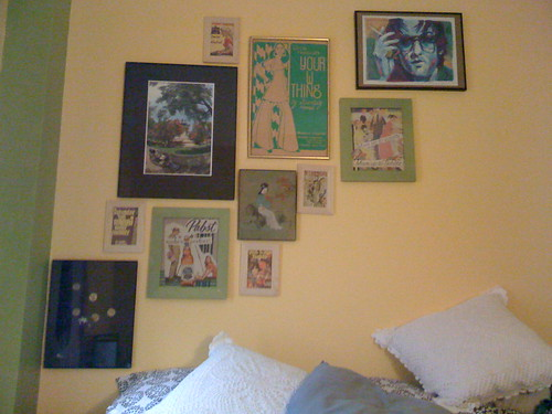 pictures hanging over my bed