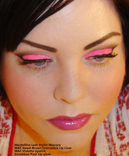 Neon Pink Glitter Tutorial Medusas Makeup Krista