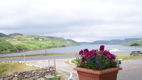 The view down Loch Inchard from the hotel Richonich