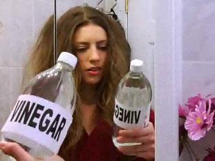 Vinegar for hair treatment