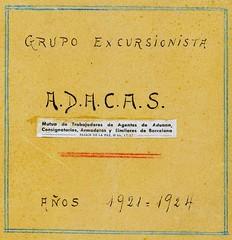 ADACAS - Album fotográfico del grupo excursionista de trabajadores de aduanas y similares de Barcelona, 1921-1924