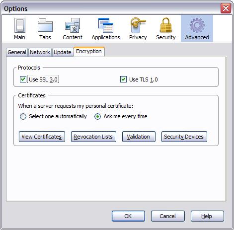 Internet Options 3 (SSL/FF)