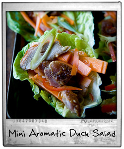 Mini Aromatic Duck Salads
