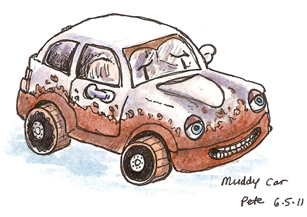 toy muddy car