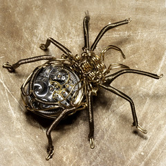 Steampunk Clockwork Spider Brass and Cop by Catherinette Rings Steampunk, on Flickr