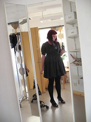 wool balloon dress - mirror picture