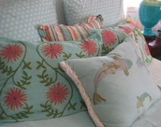 Pillows by Pine Cone Hill and Posh Living.