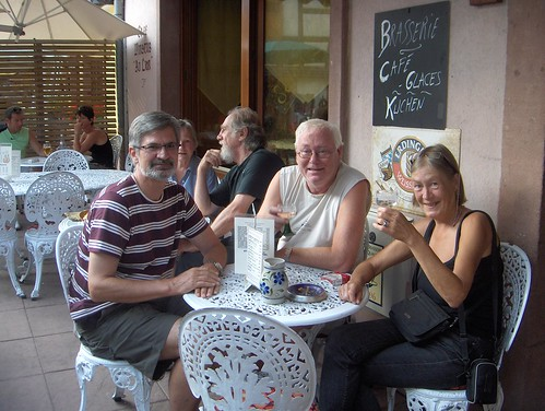 Renny, Tor and Anna enjoying Alsace wine