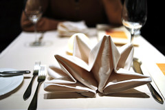 Aqua Napkin Origami