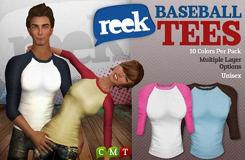 Reek - Baseball Tees