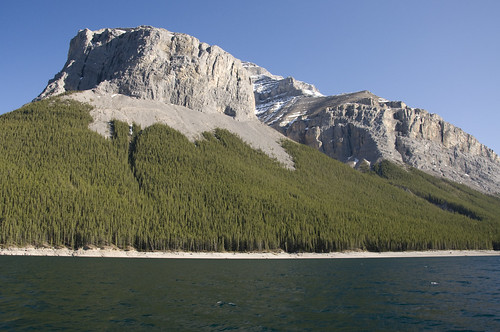 Mt Peechee in the Fairholme Range seen from Lake Minnewanka