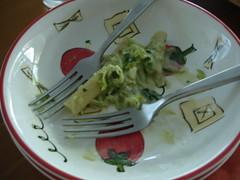 Gorgonzola and Zucchini Rigatoni