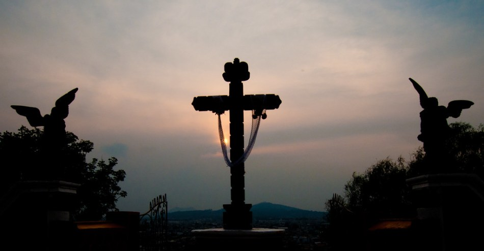 Cholula at sunset