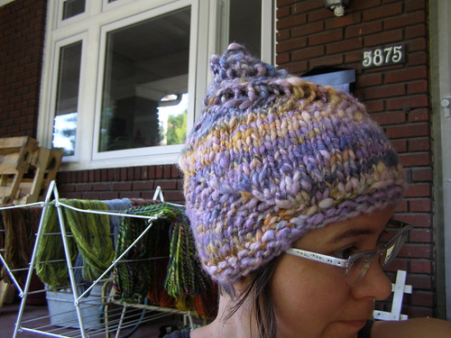 handspun snail hat the second