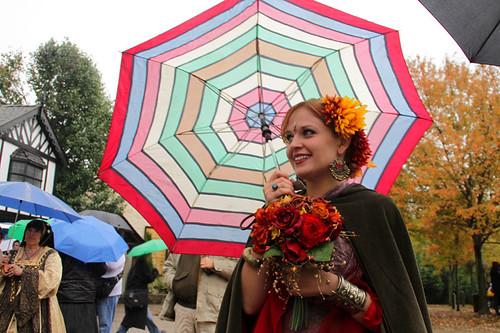 The bride plus umbrella