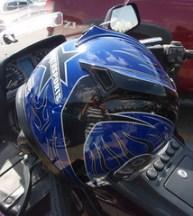 Self-portrait in a Motorcycle Helmet 6/07/09