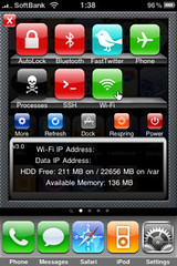 SBSetting for iPhone 3GS