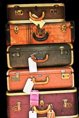 suitcase pile