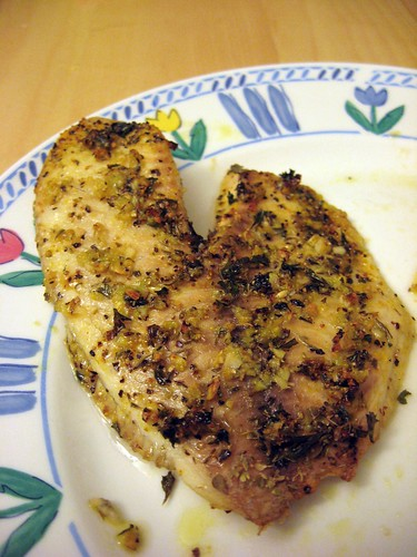 Piece of Finished Herb-Garlic Tilapia