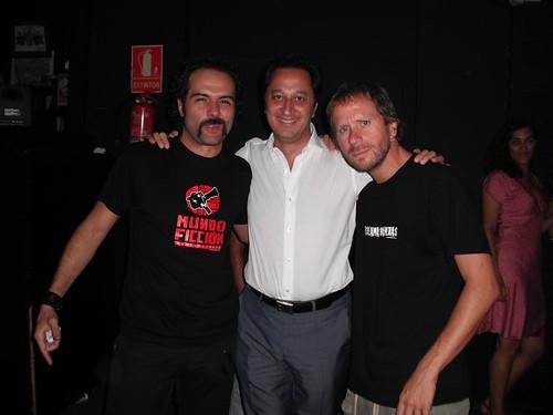 Con Alfonso y Alberto, dos verdaderos artistas sevillanos