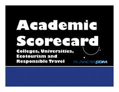 academic scorecard