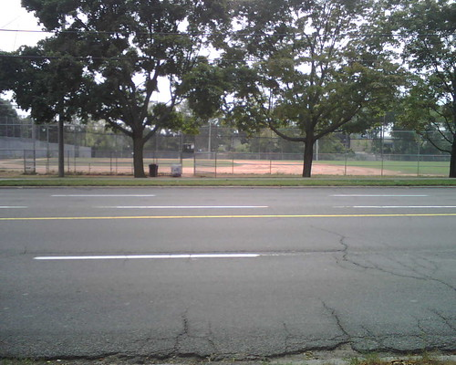 This is the field next to the library