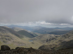 View across the lakes from Scafell Pike