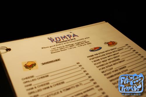 rumpa's menu