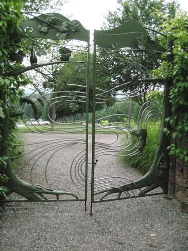 Wildlife gate at NC Arboretum