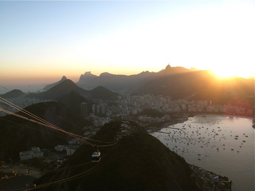 Sugarloaf cable car, Christ Redeemer and Botafogo bay