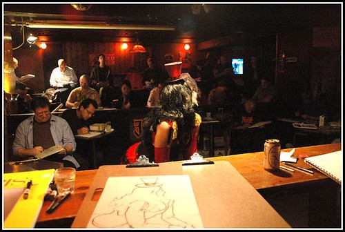 Dr Sketchy's at the Clermont Lounge