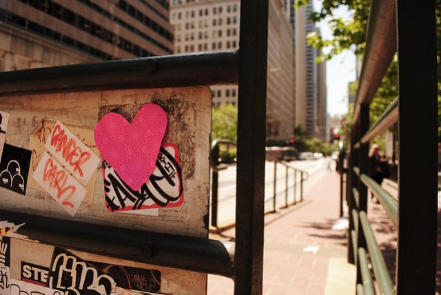 In the Shape of a Heart (at the MUNI Stop)