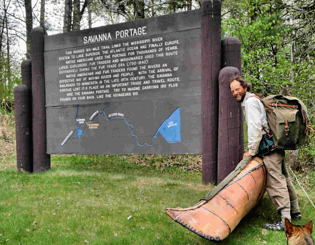 Erik, after crossing the complete Savanna Portage.