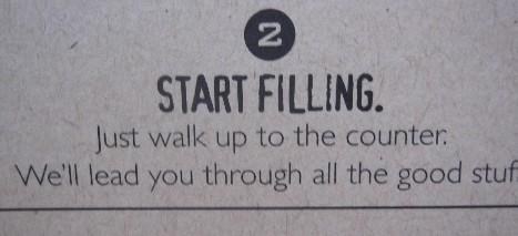 Start Filling