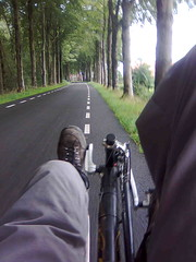 Cycling on Dutch alleys.