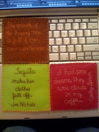 3 of 4 Coasters, Backs