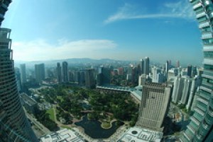 A view of Kuala Lumpur from the Petronas Towers