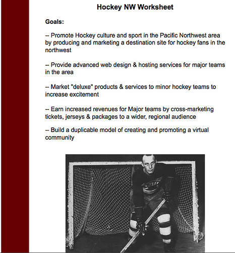 Hockey NW biz plan