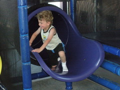 Nathan in the McDonald's playland.