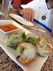 co'm grill - shrimp spring rolls