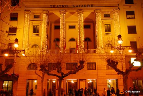 Fachada del Teatro Gayarre en la Avenida de Carlos III