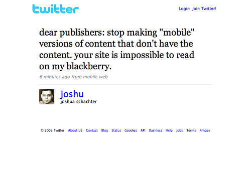 Twitter - joshua schachter- dear publishers- stop maki ... (20090921)