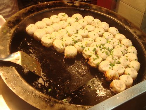 Pot of dumplings