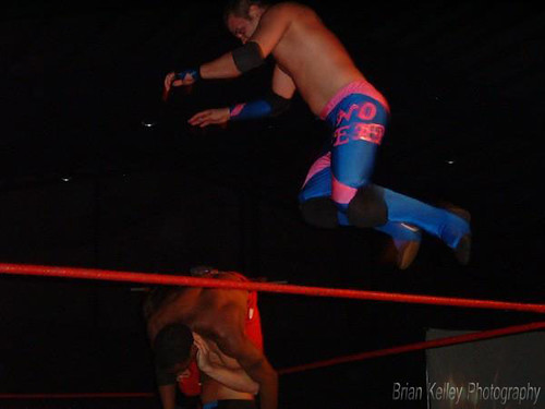 Williams made his LWA debut May 24, 2008 in a tag team match with Michael Serious against Espinosa and Irresistably Flawless Brandon Aarons. Photo by Brian Kelley