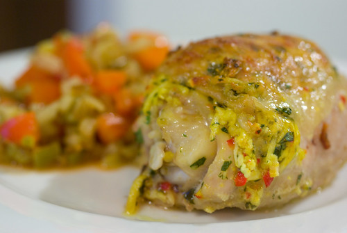 panir-stuffed chicken