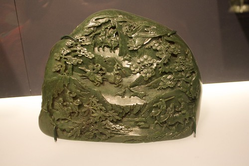 Jade carving depicting a journey