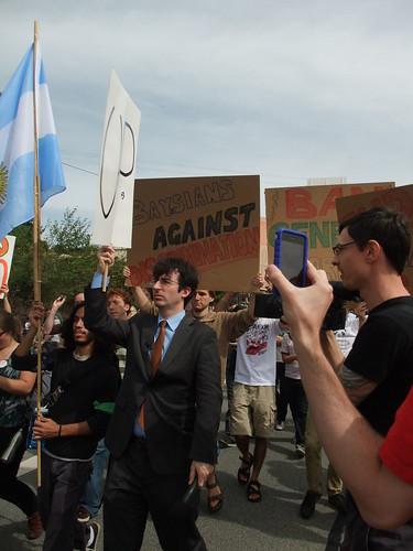 John Oliver joins the protest