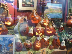 Shop window pumpkins