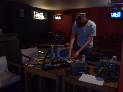 Liverpool Hackspace meeting at the Bad Format Social Club